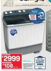 Hisense washing machine  offers at R 2999