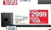 Hisense 2.1 Channel Soundbar With Wireless Subwoofer offers at R 2999