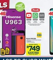 Hisense U963 Smartphone offers at R 749