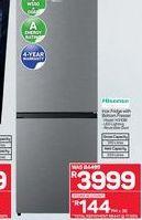 Hisense fridge freezer  offers at R 3999