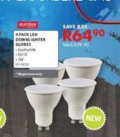 4 pack led down lighter globes offers at R 64,9
