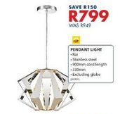 Pendant light offers at R 799
