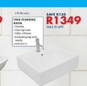 Free-standing basin offers at R 1349