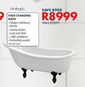 Free- standing bath offers at R 8999