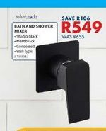 Bath and shower mixer offers at R 549