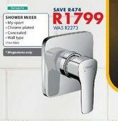 Shower mixer offers at R 1799