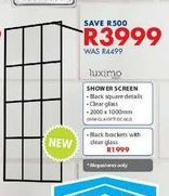 Shower screen offers at R 3999