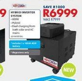 Hybrid inverter system offers at R 6999