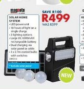 Solar home system offers at R 499