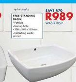 Free-standing basin offers at R 989
