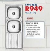 Drop-in Sinks offers at R 949
