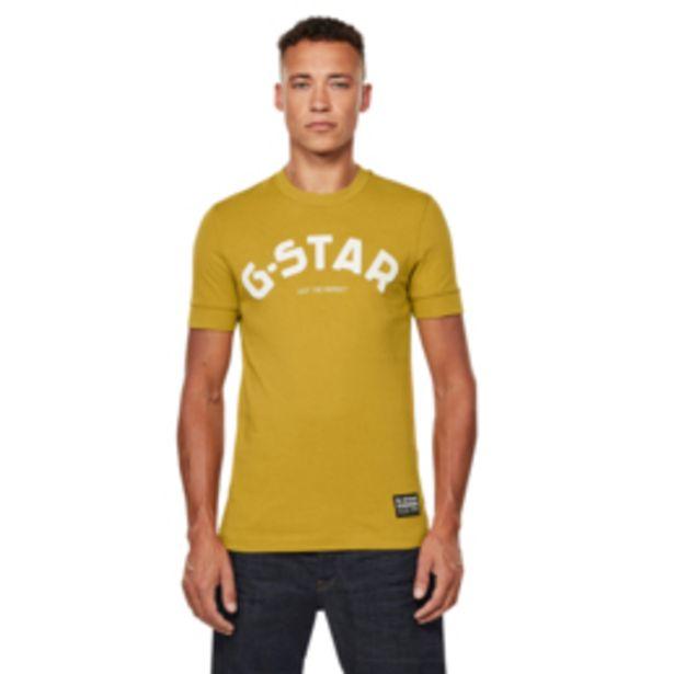 G-Star Felt Applique Logo Slim T-Shirt Green Sulphur offers at R 899