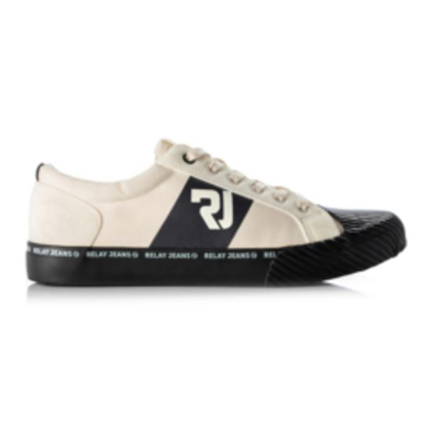 RJ Black Canvas Tape Sneaker offers at R 399