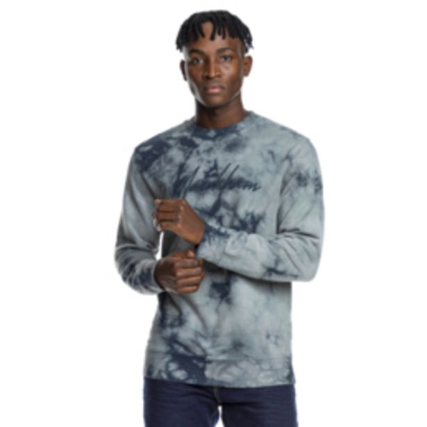 Mkm Tie Dye Crewneck Sweatshirt Grey offers at R 260