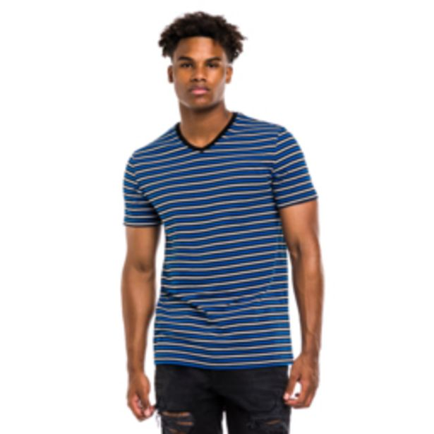 Mkm Horizontal Striped T-Shirt Cobat Blue/Black offers at R 120