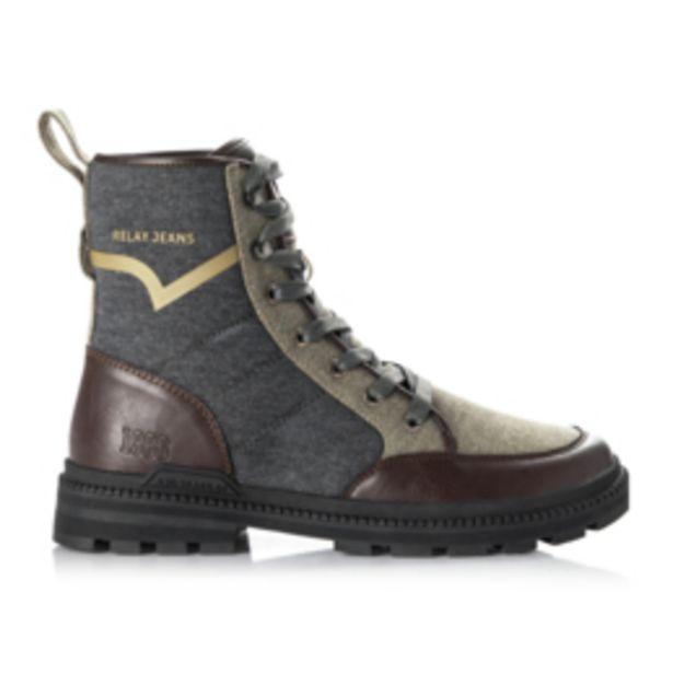 Rj Mixed Fab Hunter Boot Khaki offers at R 699