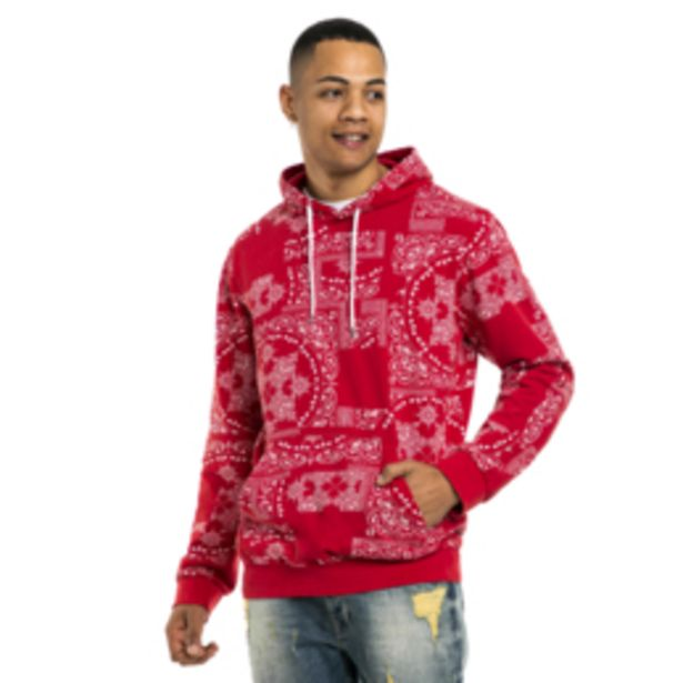 Mkm Paisley Printed Hoodie Red offers at R 450