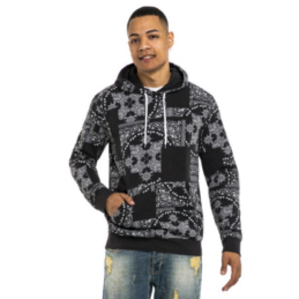 Mkm Paisley Printed Hoodie Black offers at R 450