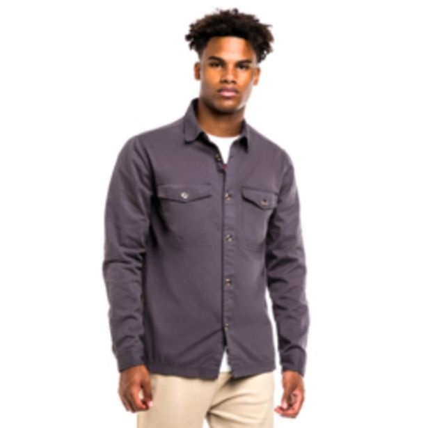 Mkm Cotton Twill Overshirt Charcoal offers at R 499
