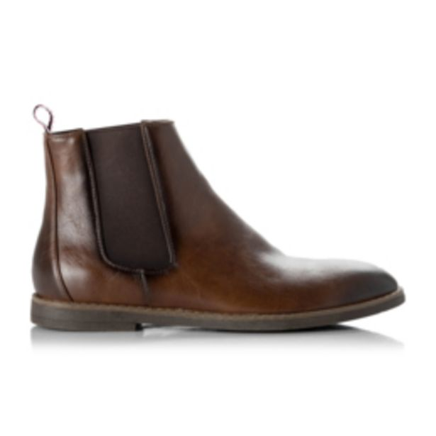 Rj Distressed Pu Chelsea Boot Brown offers at R 699