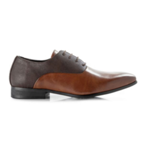 Mkm Mix Fab Pepple Grain Oxford Browns offers at R 650