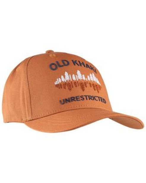Old Khaki Men's Archie Rust Forest Embroidered Peak Cap offers at R 150