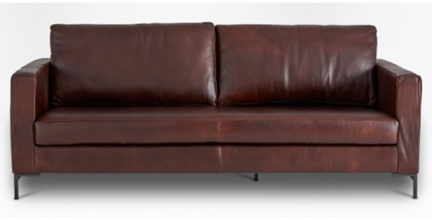 Sami Leather 3 Seater Couch offers at R 13999