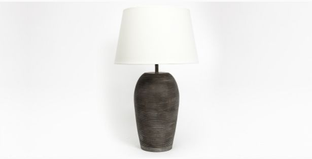 Toya Ribbed Lamp with Shade offers at R 1499