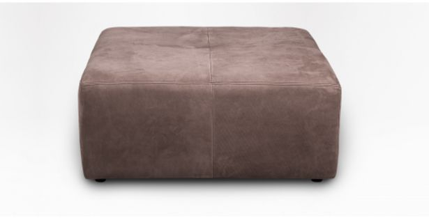 Coffee Leather Square Ottoman offers at R 4999