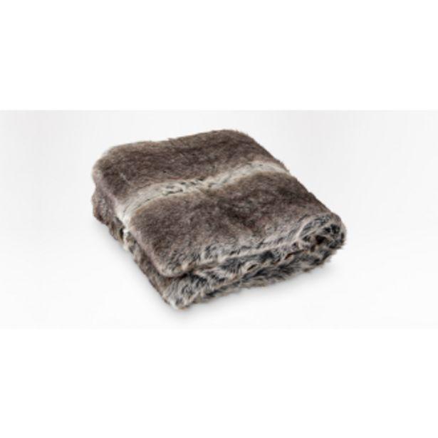 Chinchilla faux fur throw 150 x 180cm offers at R 1199