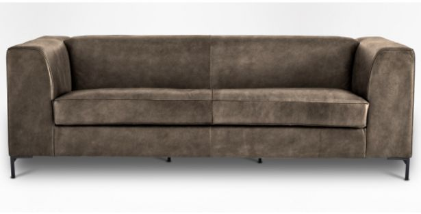Orson Leather 3 Seater in Kalahari Camel offers at R 16999