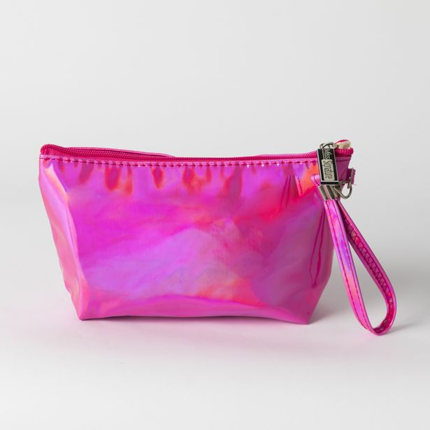Holographic Makeup Bag Pink offers at R 40