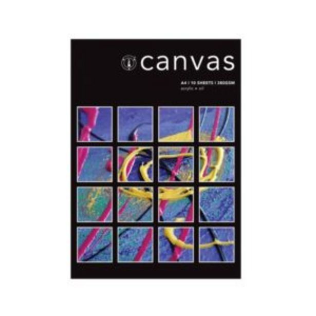 Canvas Pad A4 380gsm 10 Sheet offers at R 130