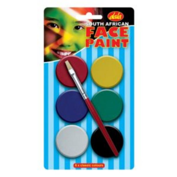 Dala SA Flag Face Paint Kit 10ml 6 Pack offers at R 80