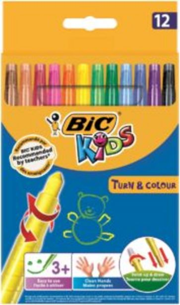 BIC Kids Turn N Colour 12 Pack offers at R 70