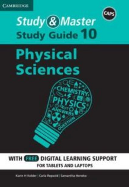 Study & Master Physical Science Study Guide (Blended) Grade 10 offers at R 180