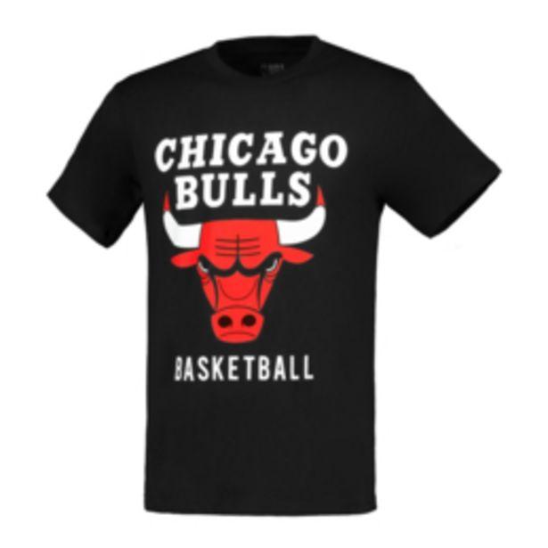 Men's NBA Chicago Bulls Icon Logo Black Tee offers at R 199,95