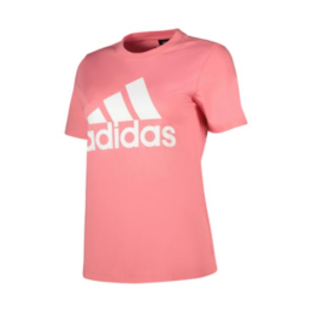 Women's adidas Badge of Sport Logo Hazy Rose Tee offers at R 219,95