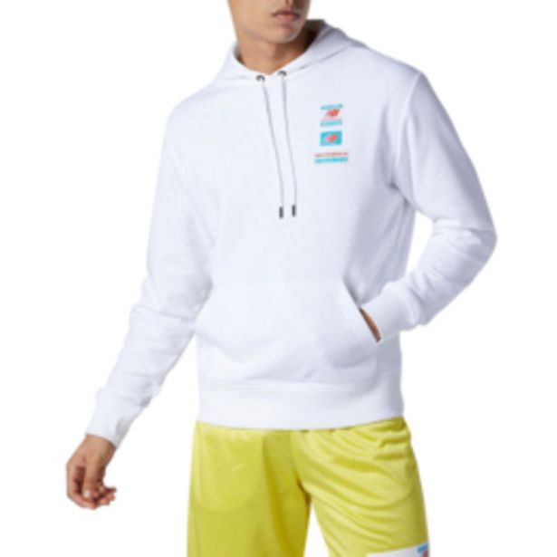 Men's New Balance Essentials Field Day White Hoodie offers at R 739,95