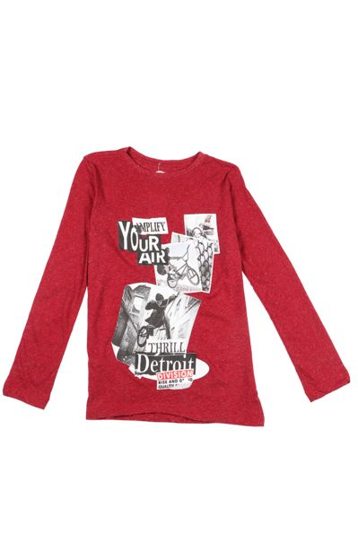 Long Sleeve Statement T-Shirt - Red offers at R 56,1