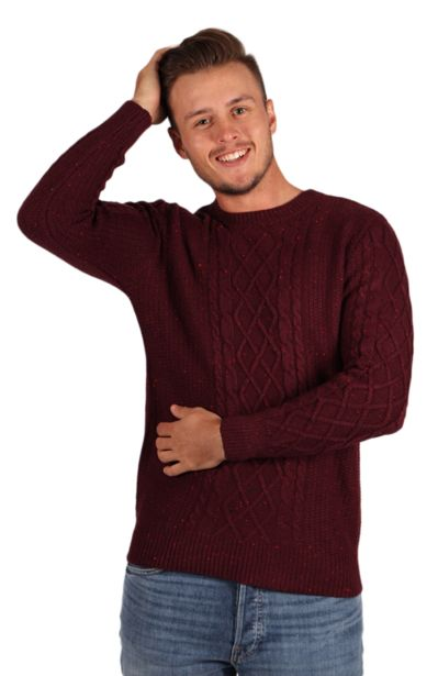 Textured Sweater - Burgundy offers at R 140,25