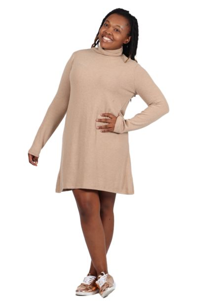 Polo Neck Dress - Nude offers at R 179,99