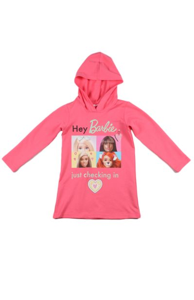Barbie Hooded Dress - Pink offers at R 85