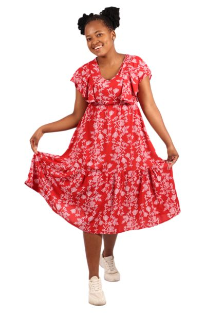 Floral Trapeze Dress offers at R 175