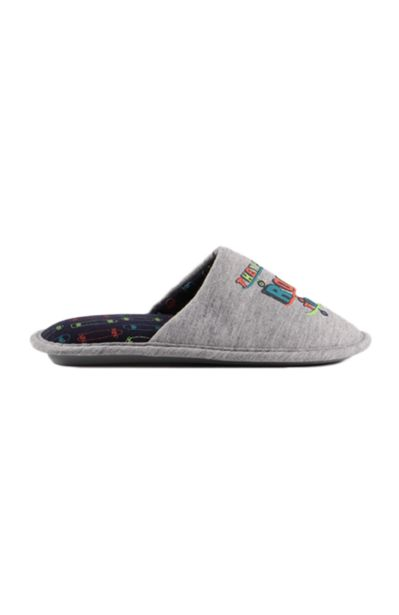 Boys Printed Slipper - Grey offers at R 35