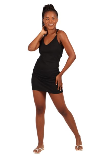 Strappy Criss Cross Bodycon Dress offers at R 85