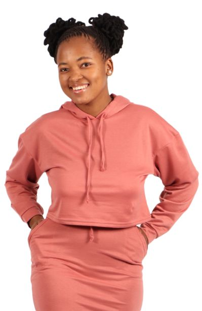 Cropped Track Top - Pink offers at R 84,99