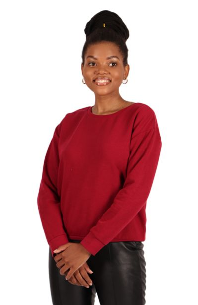 Track Top - Burgundy offers at R 47,5