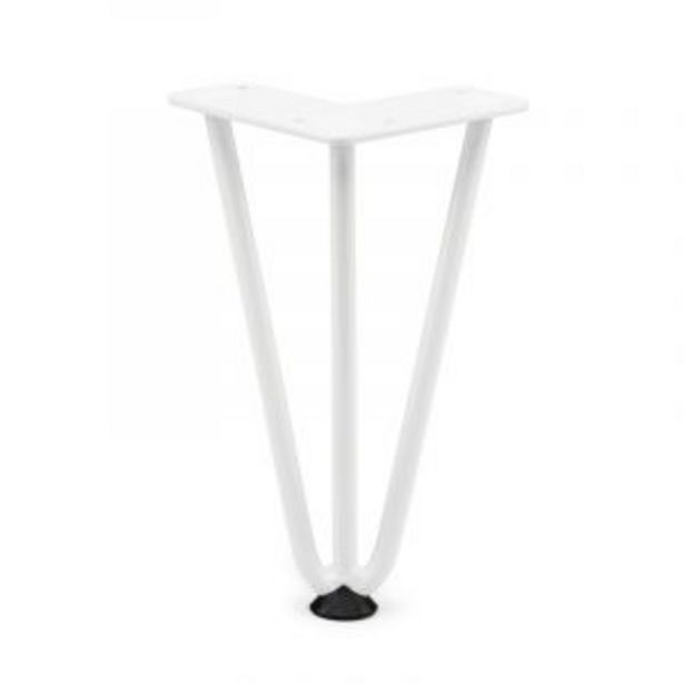 Hairpin Leg, H200mm x 10mm, White offers at R 39