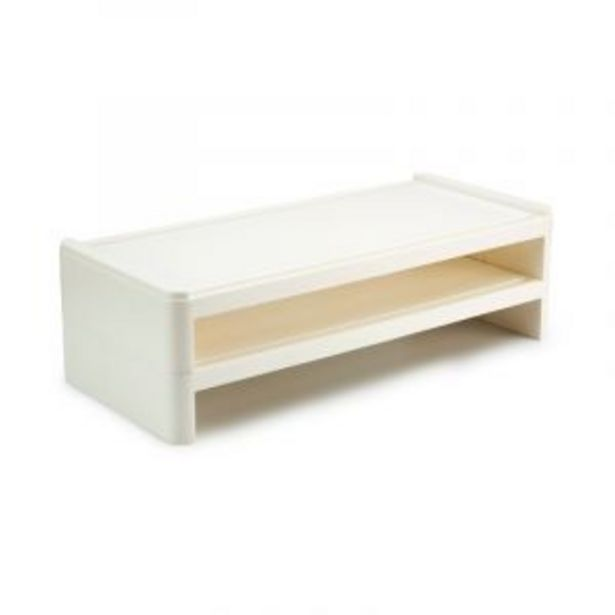 Monitor Stand with Shelf, White offers at R 249